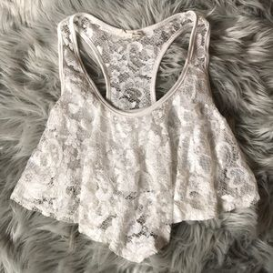 Kirra White Lace Crop Top